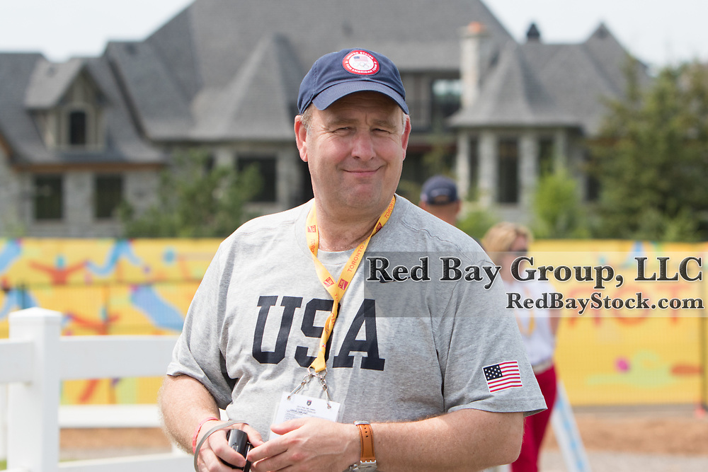 Will Connell, USEF Director of Sport Programs at the OLG Caledon Pan Am Equestrian Park during the Toronto 2015 Pan American Games in Caledon, Ontario, Canada.