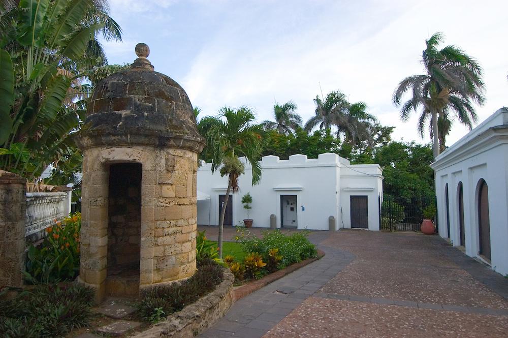 06142005-San Juan, Puerto Rico- Museo Casa Blanca en el Viejo San Juan. Casa Blanca Museum at Old San Juan