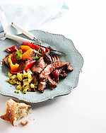 Espresso-Chile Rubbed Steak with Pineapple Chimmichurri Sauce