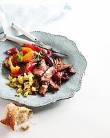 Espresso-Chile Rubbed Steak with Pineapple Chimmichurri Sauce
