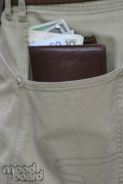 Wallet in pocket - close up