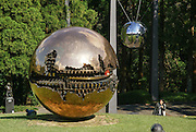 Japan, Honshu Island, Kanagawa Prefecture, Fuji Hakone National Park, Hakone Open-Air Museum. Sfera con Stera by Arnaldo Pomodoro