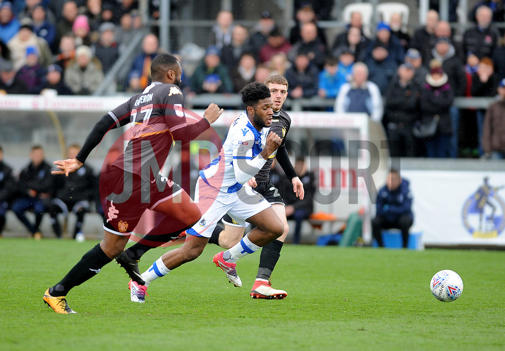 Ellis Harrison of Bristol Rovers bursts through the Bury defence - Mandatory by-line: Neil Brookman/JMP - 30/03/2018 - FOOTBALL - Memorial Stadium - Bristol, England - Bristol Rovers v Bury - Sky Bet League One