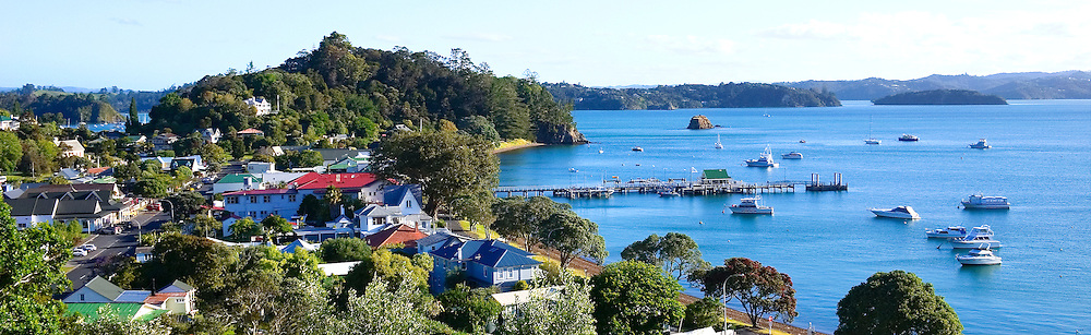 panoramic view over Russell, Bay of Islands