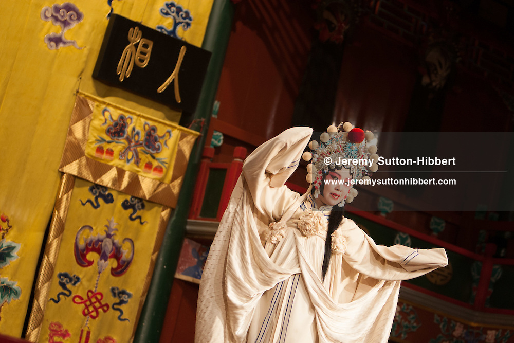 Beijing Feung Lei opera troupe perform at HuGuang Guildhall Opera House, in Beijing, China, Monday 28th May 2012.