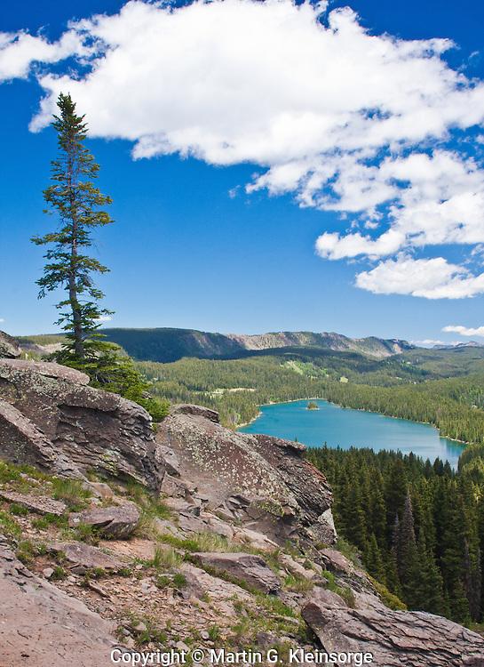 Island Lake of the Land O'Lakes Area on the Grand Mesa, Colorado.