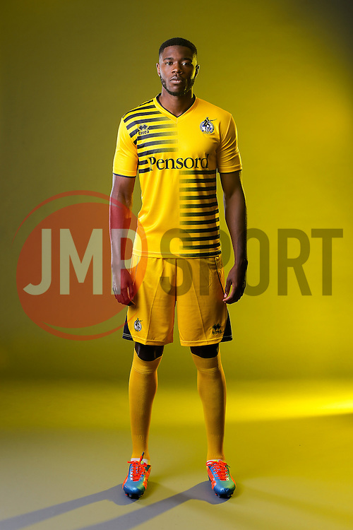 Nathan Blissett of Bristol Rovers poses in the new Away Strip ahead of the 2015/16 Sky Bet League Two campaign - Mandatory byline: Rogan Thomson/JMP - 07966 386802 - 22/07/2015 - SPORT - Football - Bristol, England - Memorial Stadium - Bristol Rovers Kit Launch.