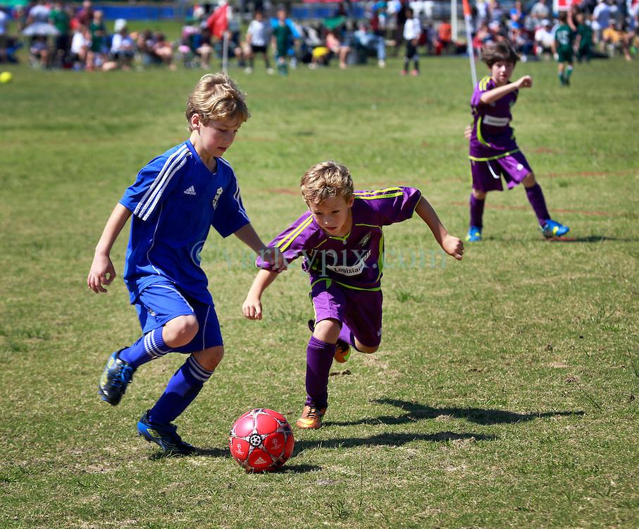 03 May 2014. Emerald Coast Cup, Niceville, Florida. <br /> U9 Jesters v Gulf Coast United. 1-1 final score.<br /> Photo; Charlie Varley/varleypix.com