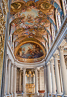 Palace of Versailles. Ceiling in the Sun King's Chapel.
