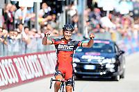 Victoire de Philippe Gilbert - Bmc - 28.05.2015 - Tour d'Italie - Etape 18 : Melide / Verbania <br />Photo : Sirotti / Icon Sport
