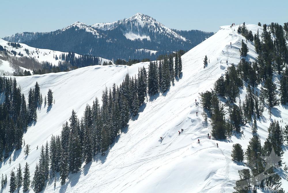 backcountry skiing at The Canyons