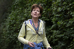 © Licensed to London News Pictures. 06/10/2016. Dorking, UK.  Diane James walks near her home. Diane James resigned as UKIP party leader yesterday after 18 days in the post. Former leader Nigel Farage has returned as interim leader. Photo credit: Peter Macdiarmid/LNP