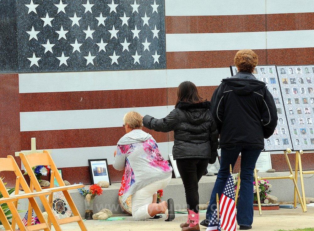 Offerings are made before a Memorial Day ceremony at the Monterey County Vietnam Veterans Memorial in Salinas.