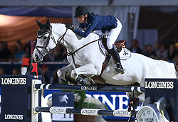 20.09.2014, Magna Racino, Ebreichsdorf, AUT, Vienna Masters 2014, Global Champions Tour Grand Prix, im Bild Athina Onassis de Miranda auf AD Camille Z (GRE) // during Vienna Masters 2014 Global Champions Tour Grand Prix at the Magna Racino, Ebreichsdorf, Austria on 2014/09/20. EXPA Pictures © 2014, PhotoCredit: EXPA/ Thomas Haumer