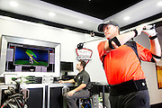 European Tour Pro Marcus Fraser getting fitted at the TaylorMade Golf Performance Lab in Melbourne Australia.