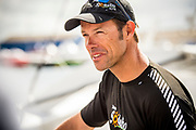 French skipper Thomas Coville, Sodebo Ultim, before the start of The Bridge 2017, a transatlantic race between the cruise liner RMS Queen Mary 2 and the world's fastest Ultim trimarans from Saint-Nazaire to New-York City on June 25, 2017 in Saint-Nazaire, France - Photo Vincent Curutchet / Dark Frame / ProSportsImages / DPPI
