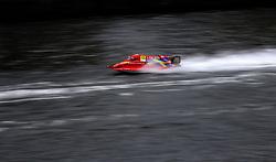 Erik Edin of Team Sweden during the F1H2O UIM World Championship 2018 Grand Prix of London around Royal Victoria Dock