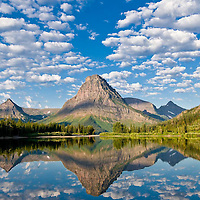 sinopah mountain, from pray lack, fall, glacier national park, crown of the continent, usa, montana