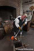 Geddy: The Gunsmith and Foundry.  Michael Noftsger pouring bronze into a mould.