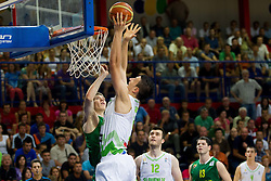 Alen Omic of Slovenia during basketball match between National teams of Slovenia and Lithuania in First Round of U20 Men European Championship Slovenia 2012, on July 14, 2012 in Domzale, Slovenia.  (Photo by Vid Ponikvar / Sportida.com)
