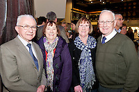 Paddy O Donnell, Anne King, Mary O Donnell and Johnny Linehan from Mervue at the Radisson Blu Hotel for Galway 1st ever Choir Factor in aid of Kilcuan Retreat and Healing Centre in Clarinbridge, Co. Galway. The event organised by the Corrib Lions Club was won by the Marine Institute Choir directed by Carmel Dooley. Picture:Andrew Downes