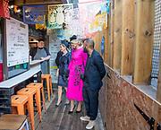 Staatsbezoek van Koning Willem Alexander en Koningin M&aacute;xima aan het Verenigd Koninkrijk<br /> <br /> Statevisit of King Willem Alexander and Queen Maxima to the United Kingdom<br /> <br /> Op de foto / On the photo: Koning Willem Alexander en Koningin Maxima brengen samen met Prins Edward, graaf van Wessex en Sophie Rhys-Jones, Gravin van Wessex een bezoek aan de Londense wijk POP Brixton<br /> <br /> King Willem Alexander and Queen Maxima together with Prince Edward, Count of Wessex and Sophie Rhys-Jones, Countess of Wessex visit the London district POP Brixton