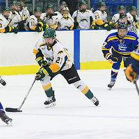 4th year forward Kylee Kupper (21) of the Regina Cougars in action during the Women's Hockey Home Game on October 15 at Co-operators arena. Credit: Arthur Ward/Arthur Images