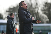 Forest Green Rovers head coach, Mark Cooper during the EFL Sky Bet League 2 match between Forest Green Rovers and Walsall at the New Lawn, Forest Green, United Kingdom on 8 February 2020.