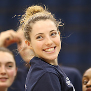 HARTFORD, CONNECTICUT- JANUARY 10: Katie Lou Samuelson #33 of the Connecticut Huskies celebrates after the UConn teams ninetieth consecutive win during the the UConn Huskies Vs USF Bulls, NCAA Women's Basketball game on January 10th, 2017 at the XL Center, Hartford, Connecticut. (Photo by Tim Clayton/Corbis via Getty Images)