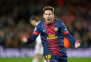 Fussball Champions League 2012/13: FC Barcelona - AC Mailand