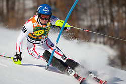 VAL D'ISERE FRANCE. 12-12-2010.RAICH Benjamin AUT  attacks a control gate whilst competing in the FIS alpine skiing world cup slalom race on the Bellevarde race piste Val D'Isere. EXPA Pictures © 2010, PhotoCredit: EXPA/ M. Gunn