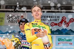 09.07.2016, Wien, AUT, Ö-Tour, Österreich Radrundfahrt, 7. Etappe, Bad Tatzmannsdorf nach Wien/Kahlenberg, im Bild Gesamtsieger im gleben Trikot, Jan Hirt (CZE, CCC Sprandi Polkowice) // Overall Winner in the Yellow Jersey Jan Hirt (CZE CCC Sprandi Polkowice) during the Tour of Austria, 7th Stage from Bad Tatzmannsdorf to Vienna/Kahlenberg Wien, Austria on 2016/07/09. EXPA Pictures © 2016, PhotoCredit: EXPA/ JFK