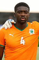 Photo: Steve Bond/Richard Lane Photography.<br /> Ivory Coast v Benin. Africa Cup of Nations. 25/01/2008. Kolo Toure lines up for Ivory Coast