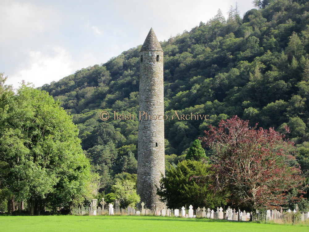 Round Tower, Glendalough, Wicklow, c.10th century a.d,