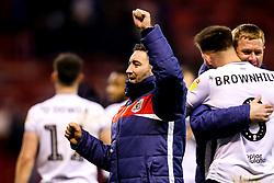 Bristol City head coach Lee Johnson celebrates victory over Nottingham Forest - Mandatory by-line: Robbie Stephenson/JMP - 19/01/2019 - FOOTBALL - The City Ground - Nottingham, England - Nottingham Forest v Bristol City - Sky Bet Championship