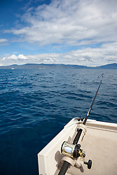 """Fishing Pole on Lake Tahoe 7"" - This fishing pole was photographed on the West shore of Lake Tahoe."