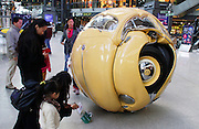"BEIJING, CHINA - NOVEMBER 18:  china out - finland out<br /> <br /> Beetle Ball Appears In Beijing<br /> A ""Beetle Sphere"" is on displayed at a shopping mall on November 18, 2013 in Beijing, China. Beetle Sphere is a sculptural composite of five Volkswagen Beetles compressed into one spherical ball by Indonesian artist Ichwan Noor.<br /> ©Exclusivepix"