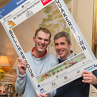 Jockey's Paul O'Neill and Derek O'Connor at the Co Clare Quackerstown Point to Point Launch at the Inn at Dromoland on Tuesday evening