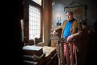 Leiden , 12 februari 2016 - Portret Jeremy Bangs in het America Pelgrim Museum in Leiden.<br />  Foto: Phil Nijhuis