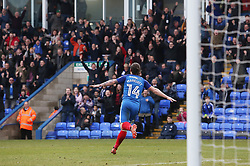Jack Marriott of Peterborough United wheels away to celebrate after scoring his first goal of the game - Mandatory by-line: Joe Dent/JMP - 10/03/2018 - FOOTBALL - ABAX Stadium - Peterborough, England - Peterborough United v Charlton Athletic - Sky Bet League One