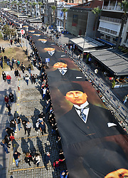 November 10, 2018 - Izmir, Turkey - Turkish people attends a respect walk For Mustafa Kemal Ataturk, founder of Turkey in the morning in Izmir. Millions join ceremonies in Turkey to commemorate Ataturk, the founder of modern Turkey,  in his 80th death anniversary. (Credit Image: © Depo Photos via ZUMA Wire)