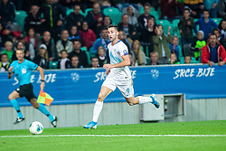 Andraž Šporar of Slovenia during the 2020 UEFA European Championships group G qualifying match between Slovenia and Poland at SRC Stozice on September 6, 2019 in Ljubljana, Slovenia. Photo by Grega Valancic / Sportida