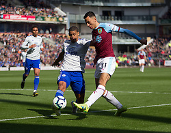 Lee Peltier of Cardiff City (L) and Dwight McNeil of Burnley in action - Mandatory by-line: Jack Phillips/JMP - 13/04/2019 - FOOTBALL - Turf Moor - Burnley, England - Burnley v Cardiff City - English Premier League
