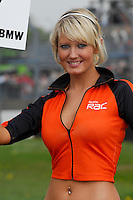 2008 British Touring Car Championship.Donington Park, Derby, United Kingdom. 3rd-4th May 2008..Team RAC BMW Grid Girl.World Copyright: Peter Taylor/PSP
