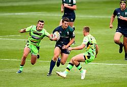 Dan Barnes of London Irish runs at Jamie Elliott of Northampton Saints - Mandatory by-line: Robbie Stephenson/JMP - 29/07/2017 - RUGBY - Franklin's Gardens - Northampton, England - Northampton v London Irish - Singha Premiership Rugby 7s