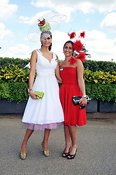 Left to right, ISABELL KRISTENSEN and her daughter VALENTINA KRISTENSEN at at the first day of the 2009 Royal Ascot racing festival on 16th June 2009.