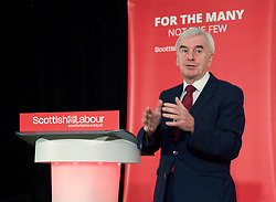 Labour's shadow chancellor John McDonnell speaking at Road to Rebuilding Economy party event at Airdrie Academy. pic copyright Terry Murden @edinburghelitemedia