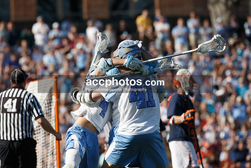 CHAPEL HILL, NC - APRIL 05: North Carolina Tar Heels hosts the Virginia Cavaliers on April 05, 2014 at Fetzer Field in Chapel Hill, North Carolina. North Carolina won 11-10. (Photo by Peyton Williams/Inside Lacrosse)