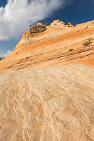 Colorful sandstone slickrock cross-bedding, Vermilion Cliffs Wilderness Utah