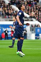 Thiago SILVA - 18.01.2015 - Paris Saint Germain / Evian Thonon - 21eme journee de Ligue 1<br />Photo : Dave Winter / Icon Sport